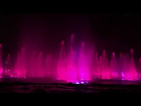 World's Largest Multicolor Dancing Fountain at Okada Manila (4K)