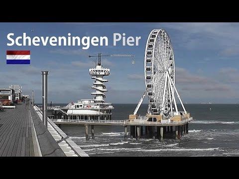 HOLLAND: Scheveningen Pier & Ferris wheel (reuzenrad) [HD]