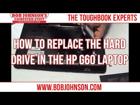 How to replace the Hard drive in the HP G60 Laptop