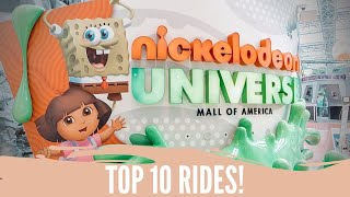 Top 10 Rides Nickelodeon Universe Mall of America