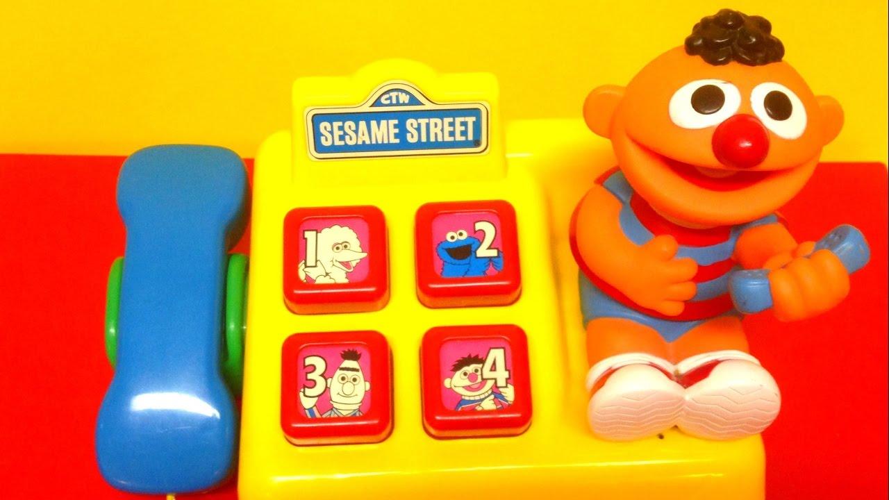 Sesame Street Toys For Toddlers : Sesame street telephone ernie kids toys youtube