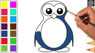 Penguin Image Color for Kids