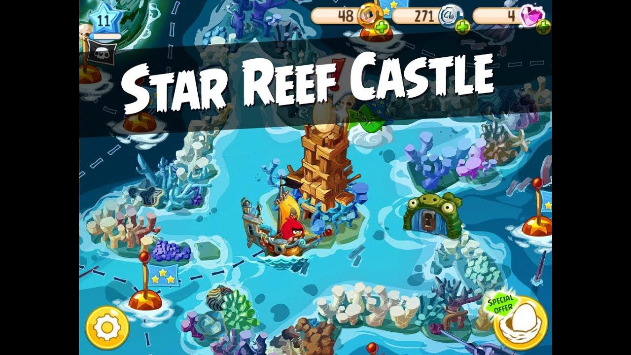 Angry Birds Epic Star Reef Castle Walkthrough - YouTube
