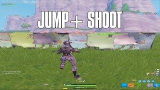 How to aim WHILE JUMPING in Fortnite (Fortnite Glitch)