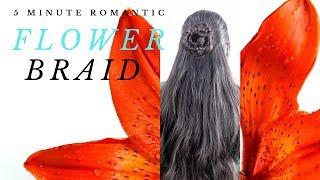 Romantic Flower Braid Half-Up Half-Down