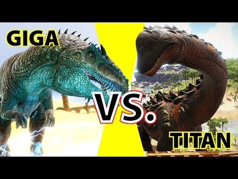 Giganotosaurus vs. Titanosaur | KampfArena | Ark Survival Evolved:  Gamplay Deutsch | German