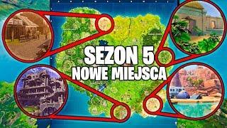 NOWE MIEJSCÓWKI NA MAPIE W *SEZONIE 5* w FORTNITE!  *PRZECIEKI* NOWA MAPA, LOKACJE NA SEZON 5!
