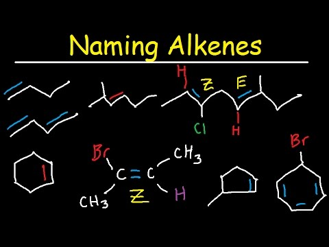 Naming Alkenes IUPAC Nomenclature Practice Substituent E Z System Cycloalkenes Organic Chemistry