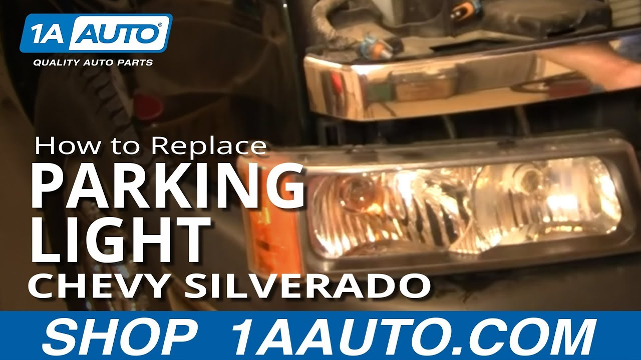 how to replace parking light 03 06 chevy silverado 1500 [ 1280 x 720 Pixel ]