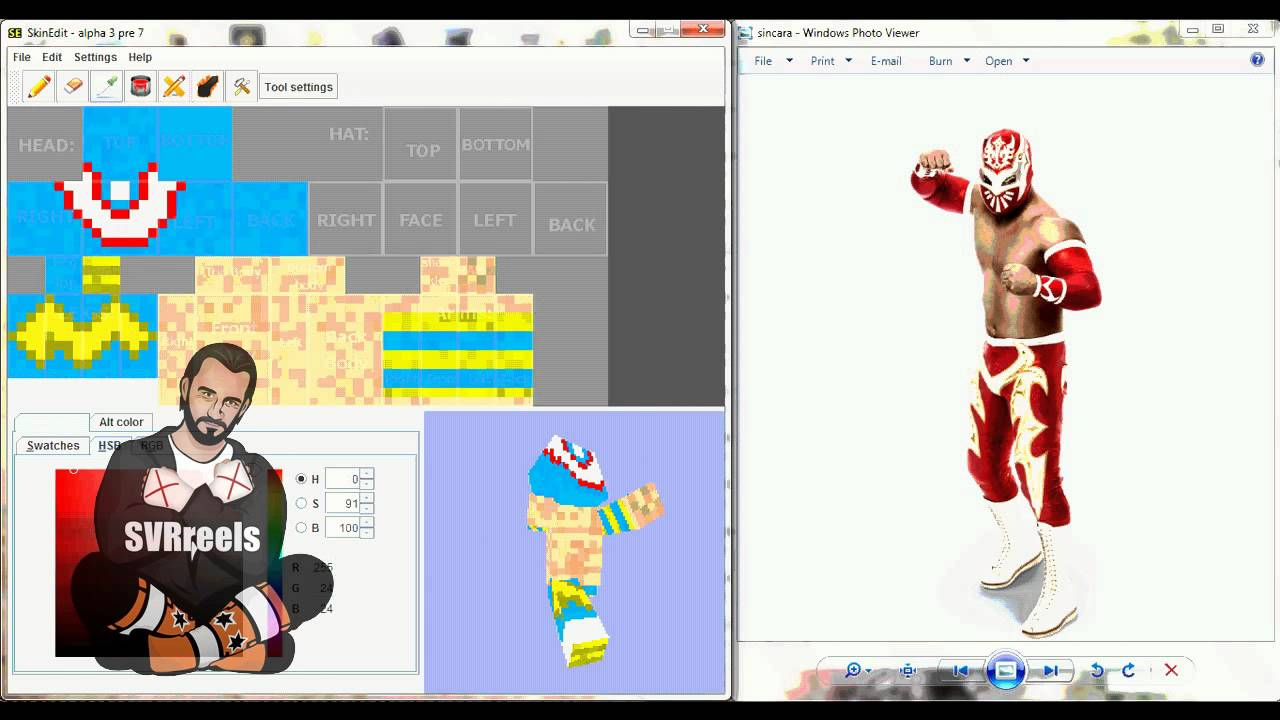 WWE Sin Cara MineCraft Skin SPEED EDIT YouTube - Skin para minecraft pe wwe