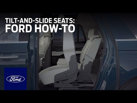 Second-Row Tilt-and-Slide Seats | Ford How-To | Ford