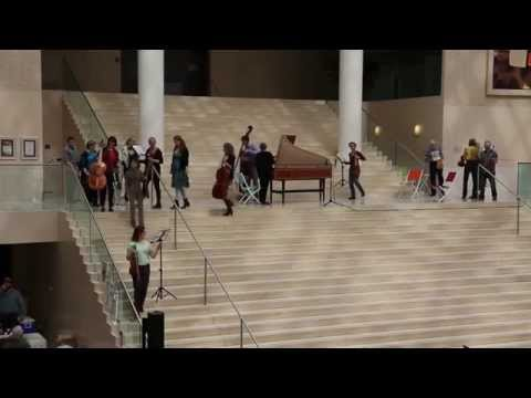 Baroque FLASH MOB - Early Music Alberta at Edmonton City Hall playing Merula and Sances