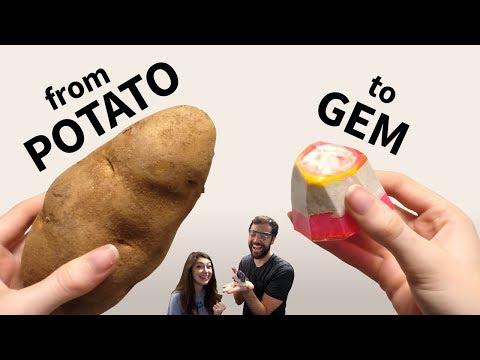 We Turn a Potato into a Concrete Resin Gem