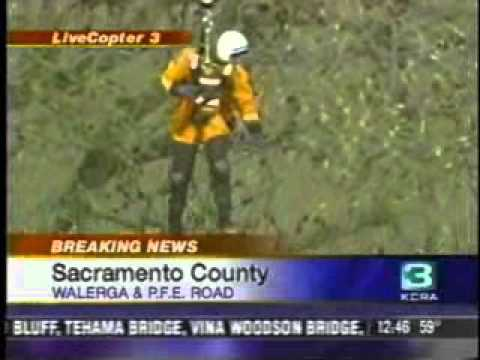 Sacramento Metro Fire Department makes rescue from helicopter