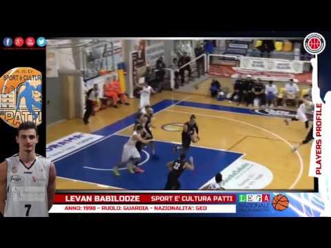 Players Profile - LEVAN BABILODZE - Sport e' cultura Patti- LNP 2016