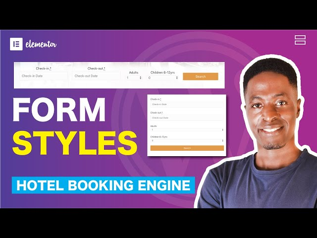 MotoPress Hotel Booking Styles: Style Check Availability and Booking Forms in Gutenberg or Elementor