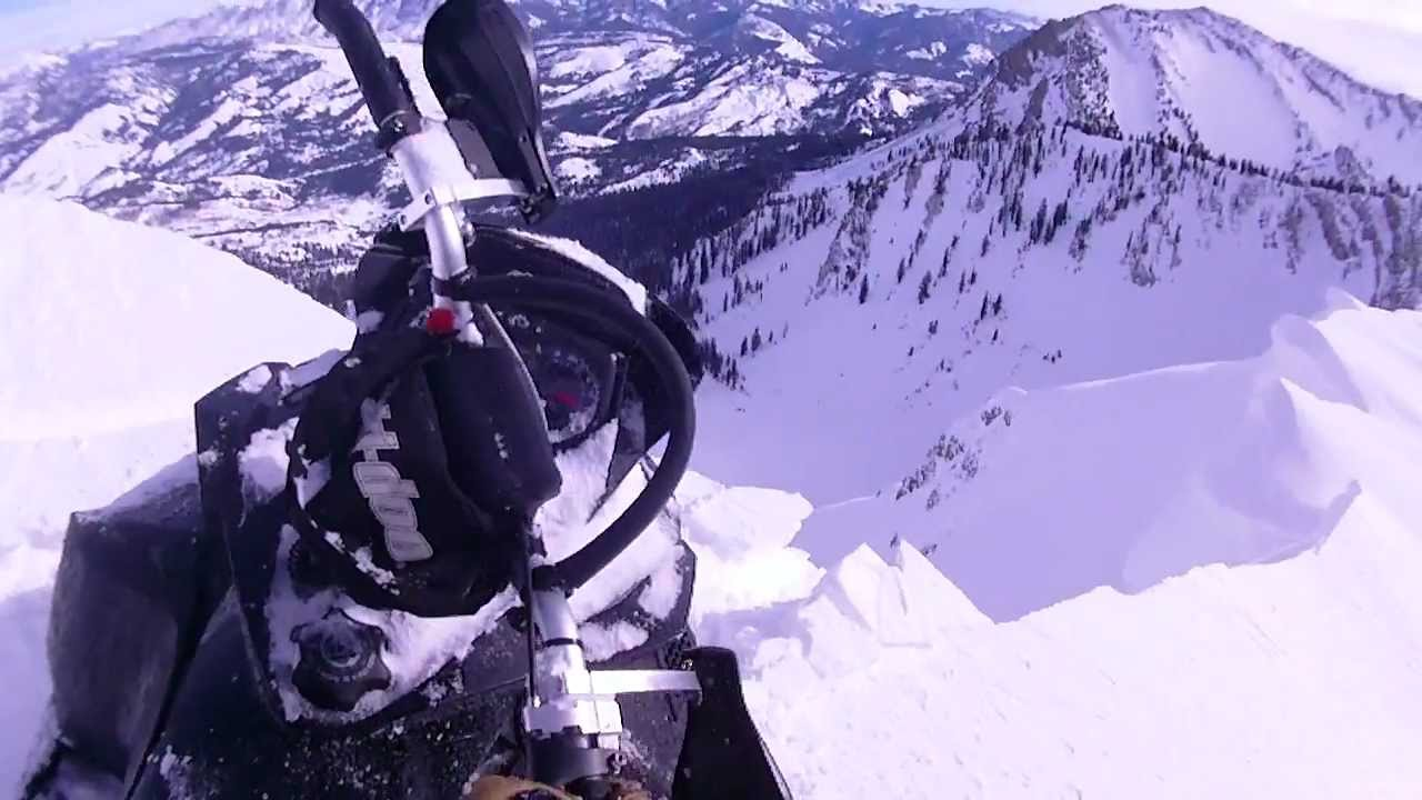Ski Doo Summit X Close Call With Cliff Fall YouTube - This is what happens when you fly a snowmobile off a cliff