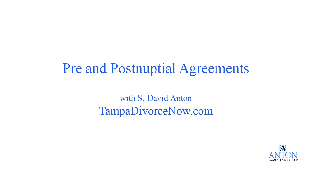 Prenuptial And Postnuptial Agreements Youtube