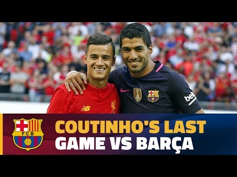 Coutinho's last game against Barça with Liverpool