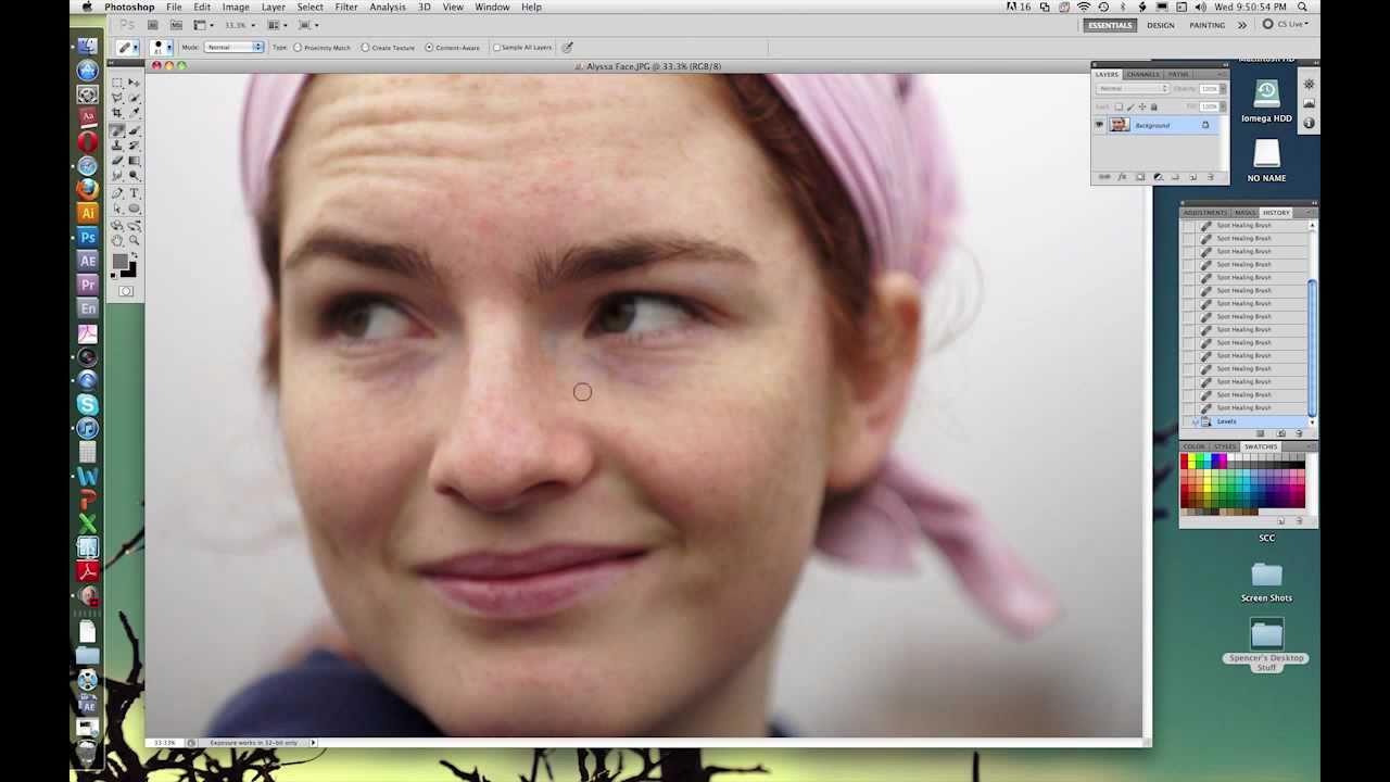 Photoshop cs5 tutorial spot healing brush tool youtube photoshop cs5 tutorial spot healing brush tool baditri Choice Image