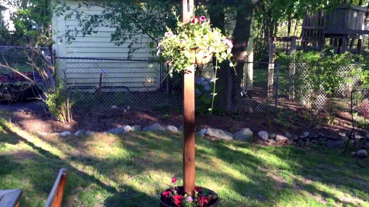 DIY Spring Project Texas Lamp Posts for the Patio  YouTube
