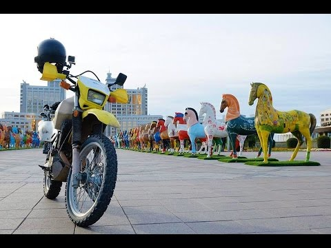 Kazakhstan Motorcycle Adventure on Suzuki DR650 - Part III [EN SUB]