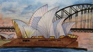 Speed Drawing Sydney Opera House | Ópera de Sídney