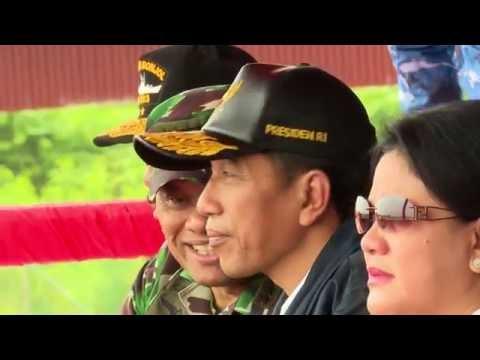 Presiden Joko Widodo Menyaksikan Latihan Angkasa Yudha