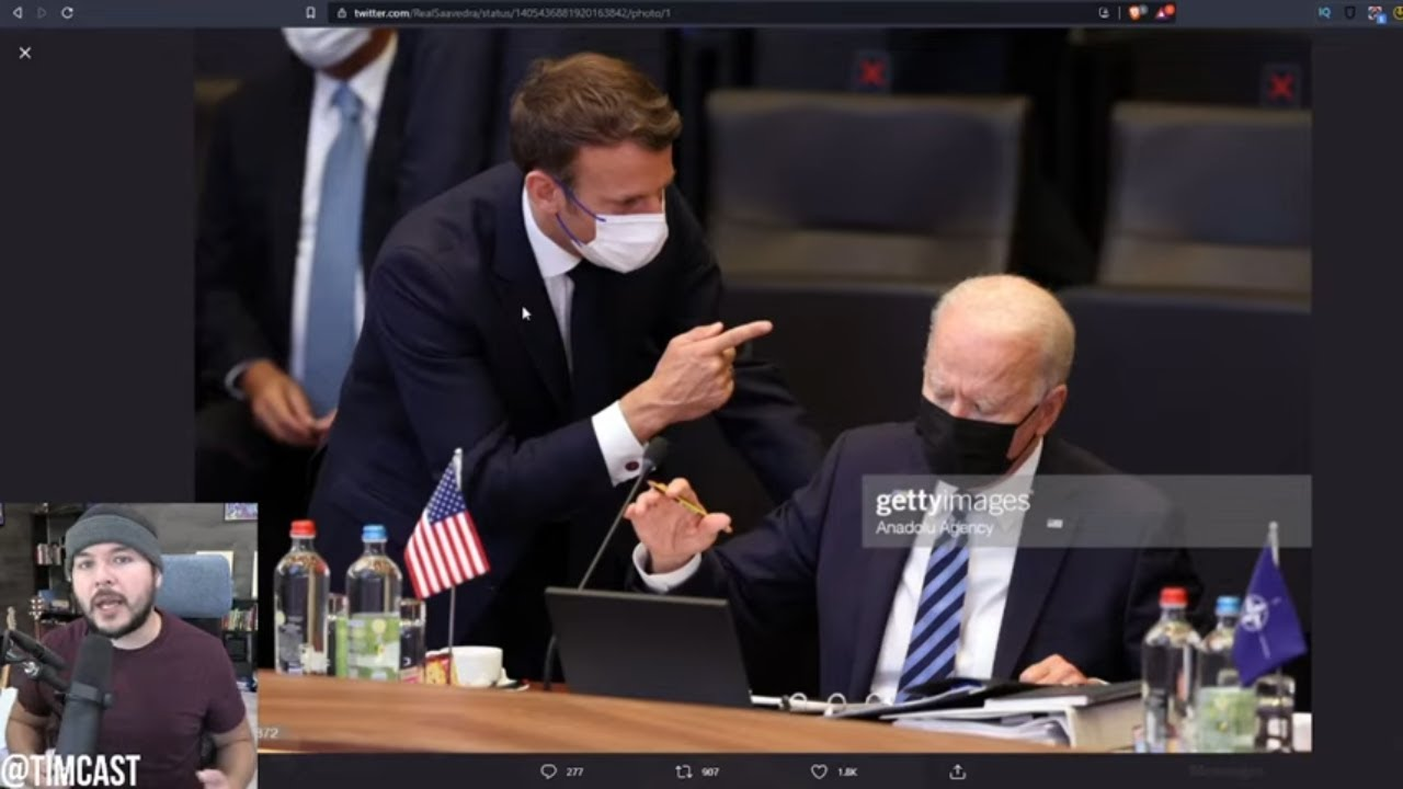 Viral Photo Shows Biden SCOLDED By France, Other Countries LAUGHING At U.S Over Biden's Broken Brain