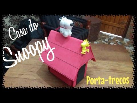Casinha do Snoopy Aviador - Porta trecos - Arte em EVA - DIY