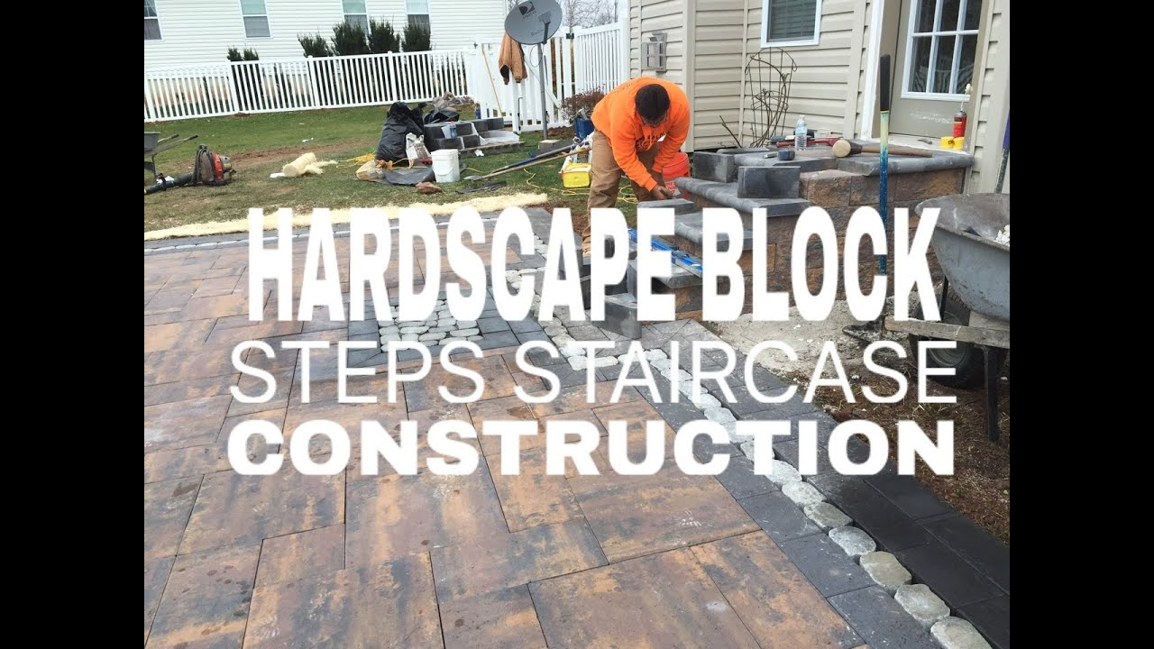 hardscape block steps staircase