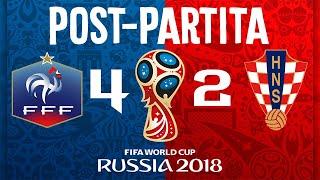 SUPER POST-PARTITA Francia-Croazia FINALE MONDIALI RUSSIA 2018 - Riepilogo e Commento