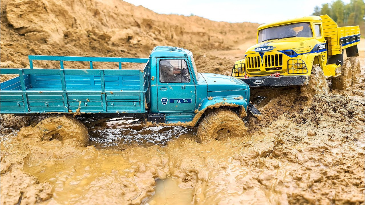 Test the New Custom Made GAZ 4x4 Truck in the MUD and Compare it with ZIL 6x6