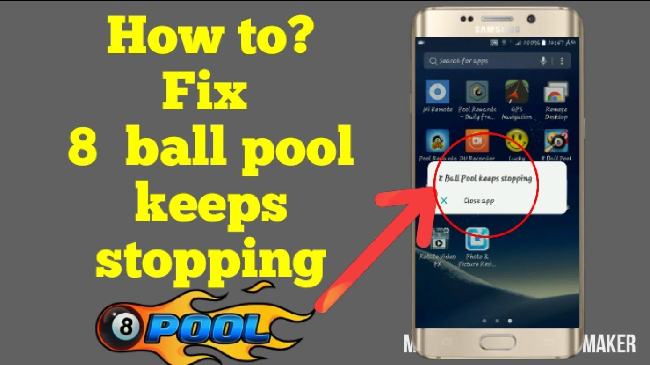 8 Ball Pool Generator App how to? fix 8 ball pool keeps stopping in one minutes |on any android  phone||aziz tech