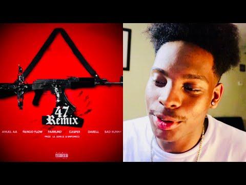 Anuel x Nengo Flow  - 47 (Remix) ft. Bad Bunny, Darell, Farruko, Sinfonico, Casper - REACTION
