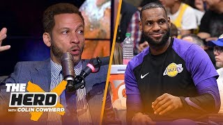 Chris Broussard's win prediction for LeBron's Lakers, Talks Butler, Kawhi rumors | NBA | THE HERD