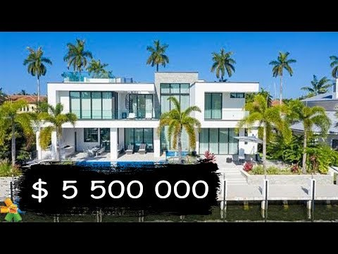 Touring A $5,5 Million Miami Luxury House | Florida Oceanfront Mansion For Sale