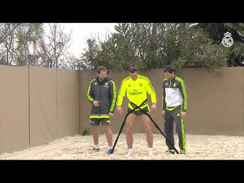 Don't miss this footage of Bale continuing his recovery in the sand!