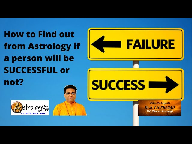 How to find out from Astrology if native will be Successful or not? Tamil&English. Dr.KVN Prasad PhD