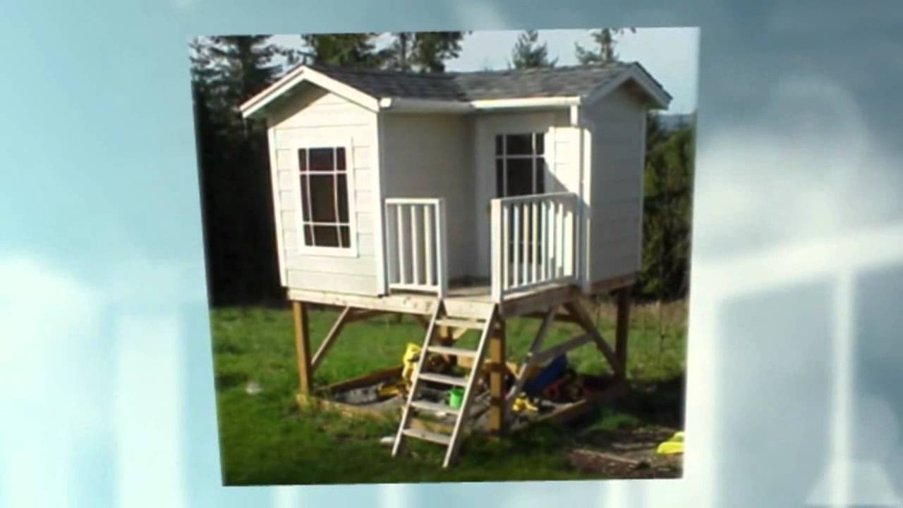 Free playhouse plans 2 story playhouse youtube for Playhouse free plans