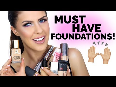 MUST HAVE FOUNDATIONS!! | BEAUTY FAVORITES 2017!