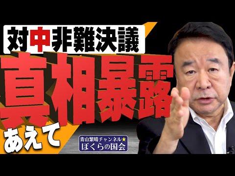 青山繁晴氏「あえて真相暴露 対中非難決議」