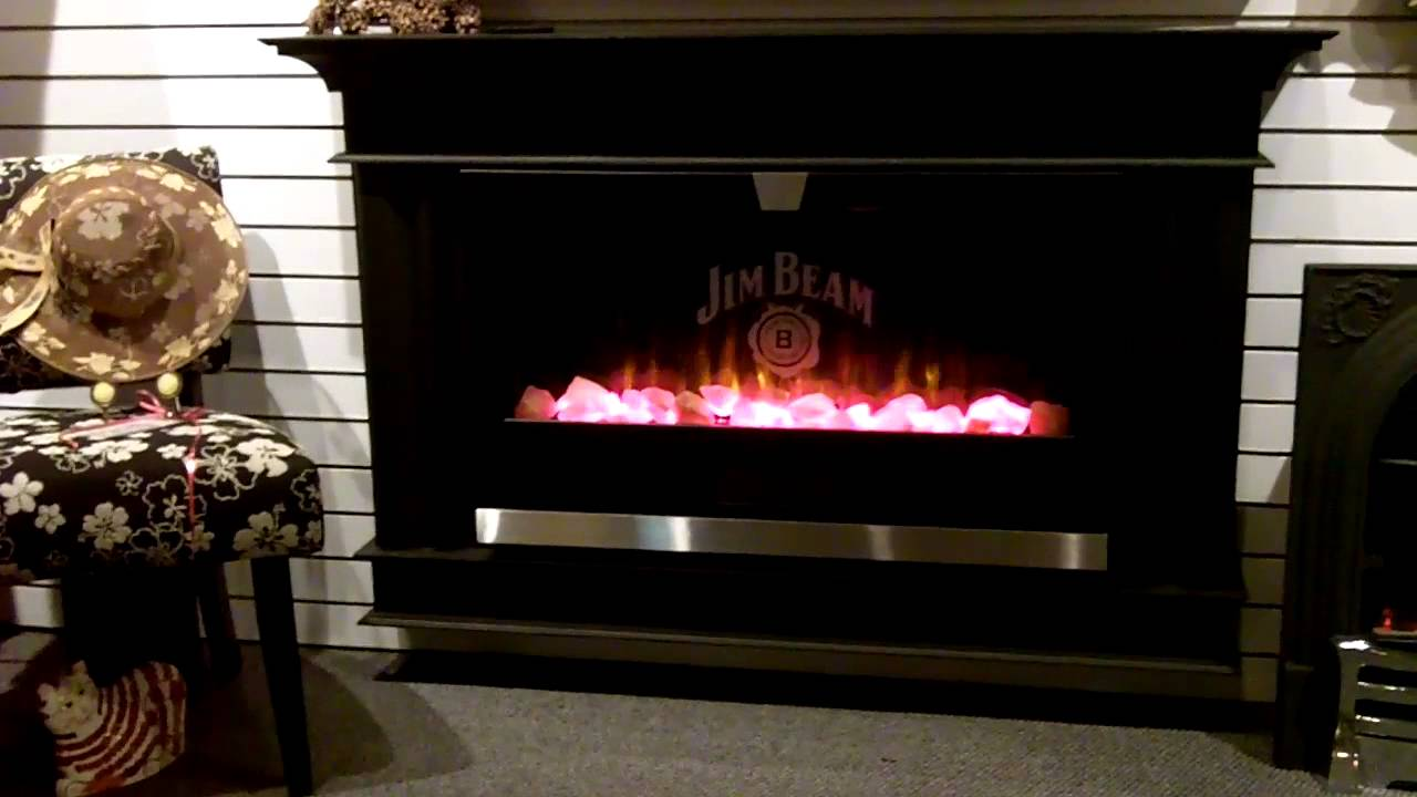 JIM BEAM Electric Fireplace Video - YouTube