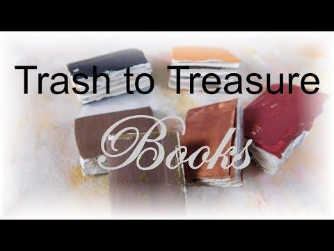 Dollhouse Miniature Trash to Treasure Books