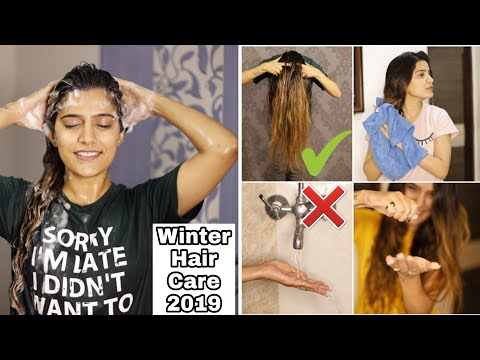 WINTER HAIR CARE ROUTINE - Stop Hair Fall | Dry Damaged Hair | Super Style Tips