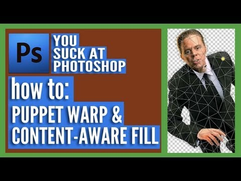 You Suck At Photoshop - Puppet Warp & Content-Aware Fill