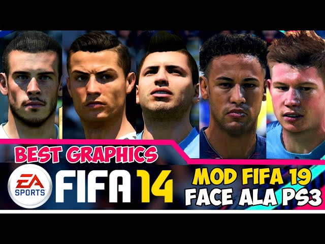 Download Fifa 14 Mod Fifa 19 Mobile Offline New Update Faces Grass Hair Kits & Transfer |  Full HD