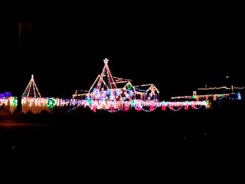 Colorado Springs Christmas Lights Display Synced to music 2015