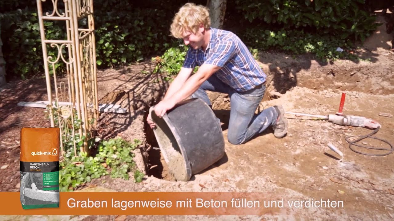 diy handbuch galabau 02 fundament setzen - youtube