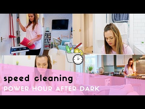 POWER HOUR AFTER DARK | CLEAN WITH ME | SPEED CLEANING CHALLENGE